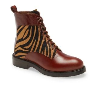 Jeffrey Campbell Fischer Lace-Up Leather Boot 6
